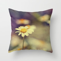 buttercup daisies Throw Pillow by ingz