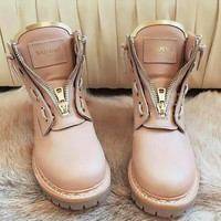 balmain leather ranger boots 2 colors
