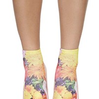 Pastel Bloom Ankle Socks