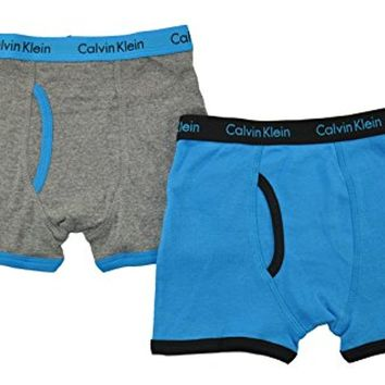 Calvin Klein Boys Blue & Gray 2Pk Underwear Boxer Briefs
