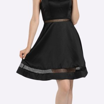 A-line Strapless Homecoming Dress Sweetheart Neckline Black