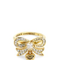 Gold Pave Bow Ring by Juicy Couture,