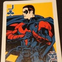 1997 Playing Card Batman and Robin Duo Robin Card by GTDesigns