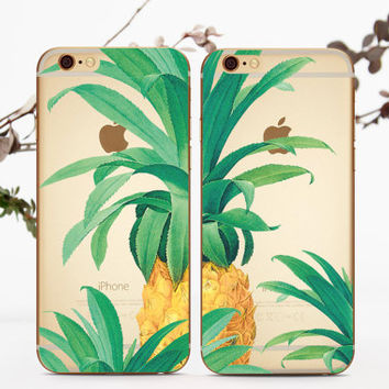 Pineapple Set Case iPhone 6 Match Case iPhone 6s Couple Case Hipster Double Case Clear iPhone 6 Couple Case Samsung Set Case Galaxy S6 005