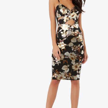 Hour Of Flower Midi Dress
