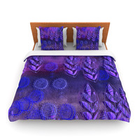 "Marianna Tankelevich ""Summer Night"" Purple Lavender Lightweight Duvet Cover"