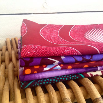 Instant collection, 5 fat quarters,  African wax print fat quarters x5 100% cotton, African wax