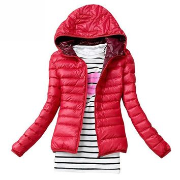 Classic light bubble hooded Slim Fit Jacket