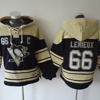 Pittsburgh Penguins - MARIO LEMIEUX #66 Vintage NHL Sweatshirt