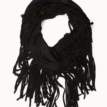 Fringed Infinity Scarf