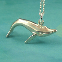 Whale Necklace Sterling Silver by maidstonelanejewelry on Etsy