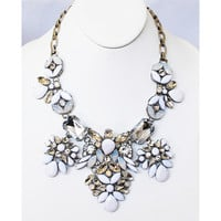Beaded Blossom Statement Necklace