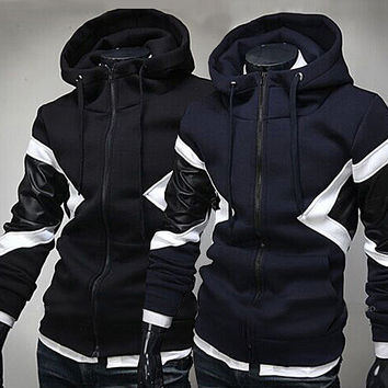 Hot Sale Mosaic Stylish Men Hats Hoodies Jacket [6528747651]