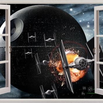 Star Wars DEATH STAR 3D Window View Decal