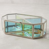 Prismatic Glass Jewelry Box by Anthropologie in Multi Size: One Size House & Home