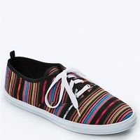 Ethnic Stripe Lace-Up Sneaker
