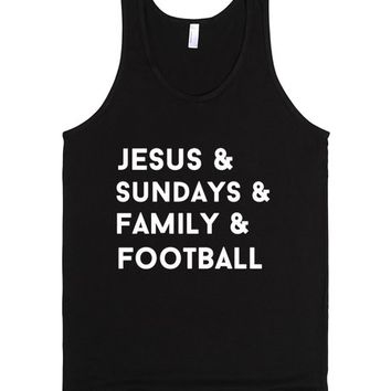 jesus and sundays and family and football