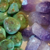 Soap (The Combo) Tumbled Turquoise Soap and Amethyst Crystal Soap