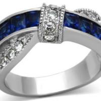 Thin Blue Line Ring Just For Women