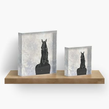 'Homage to Horse (Dark)' Acrylic Block by anni103