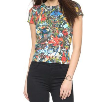 alice + olivia Regan Short Sleeve Top