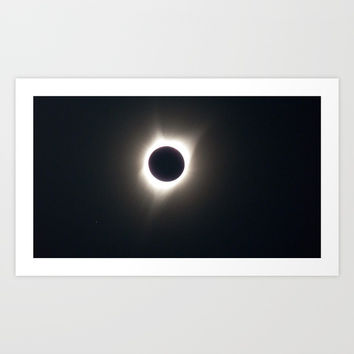 A Solar eclipse Art Print by AlishaDawnCreations