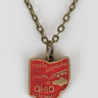 Ohio State Charm Necklace - Necklaces - Jewelry
