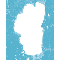 Lake Tahoe Map Print