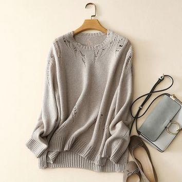 Cashmere Lace Tunic Sweater -3 Colors
