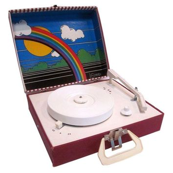 Pre-owned Rainbow Vintage Record Player