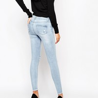 New Look Tall Jeans With Rips and Raw Hem