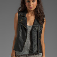 Sanctuary Vegan Leather Rebel Vest in Black from REVOLVEclothing.com