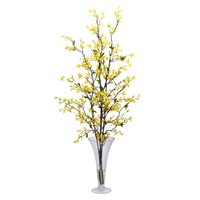 Forsythia w/Vase Silk Flower Arrangement