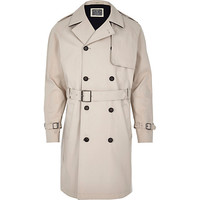 River Island MensStone Holloway Road trench coat