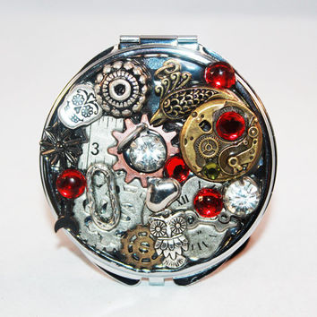 Steam Punk Mirror Compact