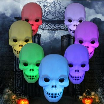 New Colorful LED Little skull head Night Light Decoration Candle Lamp Nightlight