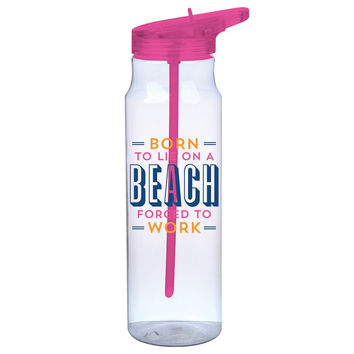Born to Lie on A Beach Water Bottle
