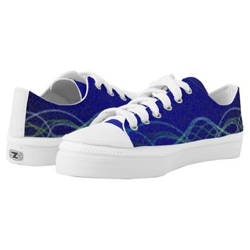 Dark blue Lights Printed Shoes
