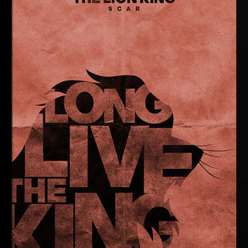 "Scar - Lion King Typography Print - 12"" x 18"""