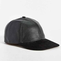 Rosin Faux Leather Snapback Hat