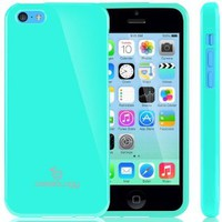 [Drop Protection] Caseology Apple iPhone 5C [Turquoise Mint] Slim Fit Skin Cover [Shock Absorbent] TPU Bumper Case [Made in Korea] (for Verizon, AT&T Sprint, T-mobile, Unlocked)