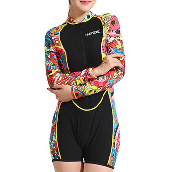 S036 One-piece Surfing Diving Suit Wetsuit Topwear   XS