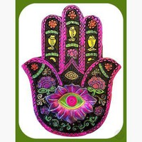 Black & Fuchsia Hamsa Hand Keepsake Box