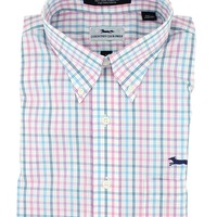 Button Down in Pink Multi Check by Country Club Prep - FINAL SALE