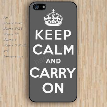 iPhone 6 case keep calm carry on gray iphone case,ipod case,samsung galaxy case available plastic rubber case waterproof B132
