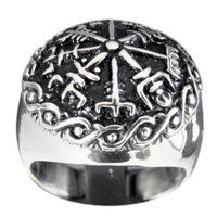The Vegvisir, or Runic Compass Ring Viking Compass in Sterling Silver 925