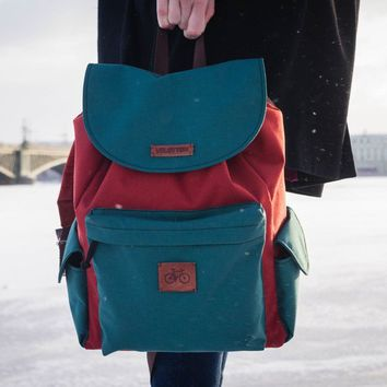 Backpack 'Coock'| Brown-Green by VELOTTON