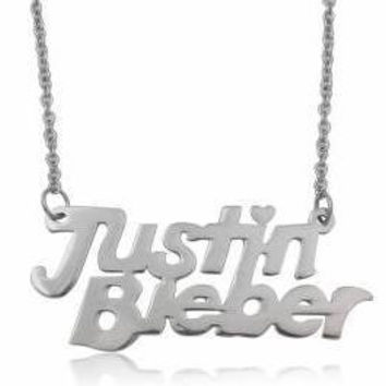 JUSTIN BIEBER NECKLACE perfect for any Belieber