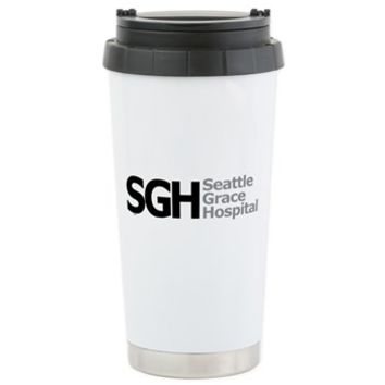 SGH Stainless Steel Travel Mug> Seattle Grace Hospital> Grey's Anatomy TV Store