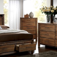 Widel Transitional 5-Drawer Chest in Oak